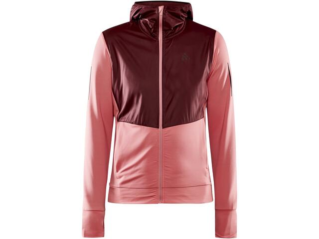 Craft ADV Charge Shiny Jersey Hood Jacket Women, coral/truffle